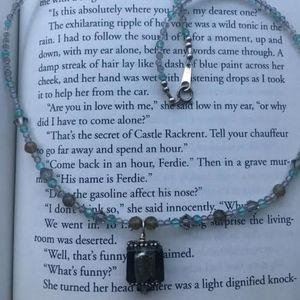 Jewelry - 203: Labrodorite Venetian Glass Necklace